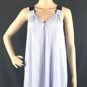 Topshop Purple Plisse Slipdress V-Neck Mini Dress